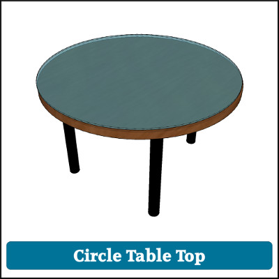 Toughened Glass Table Top Circle
