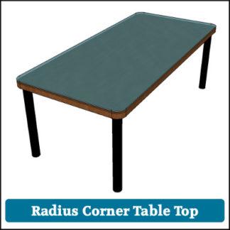 Toughened Glass Table Top Radius Corners