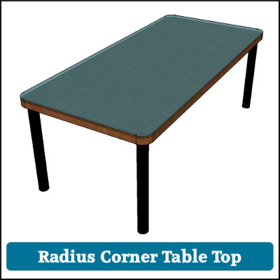 Toughened Glass Table Top Radius Corners