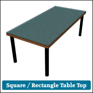 Toughened Glass Table Top Square
