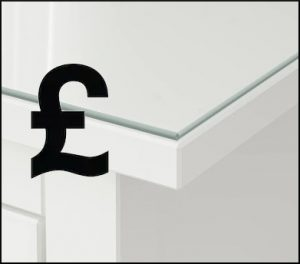 How much does a glass table top cost?